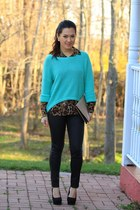 Forever21 sweater - diy purse - H&M pants