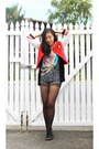 Black-boots-red-letterman-glassons-jacket-heather-gray-bdg-shorts