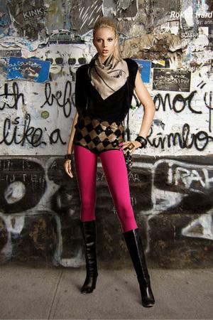 Twenty8Twelve scarf - GINA TRICOT accessories - Topshop top - Topshop shorts - T