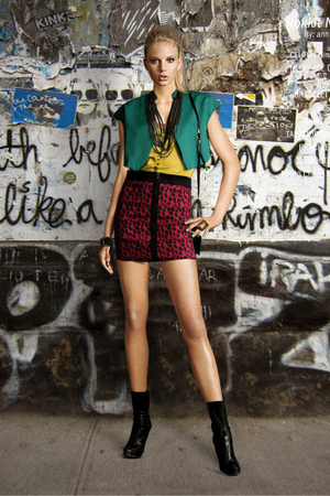 dagmar accessories - vintage vest - ted baker top - Topshop skirt - Prada shoes