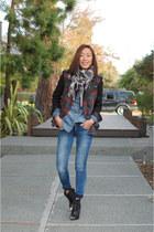 Tibi shoes - J Brand jeans - Zara jacket - Diesel shirt