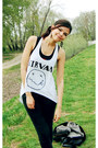 Black-h-m-jeans-white-diy-shirt-black-bershka-top