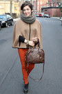 Forever21-shoes-forever21-scarf-michael-kors-bag-jcrew-cape-zara-pants