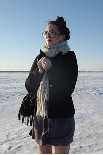 H&M scarf - le chateau jacket - Costa Blanca dress - le chateau purse - vintage
