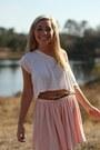 Crop-american-apparel-t-shirt-american-apparel-skirt-bebe-belt