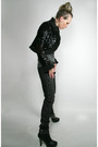 Black-vintage-jacket-black-miss-sixty-jeans-cathy-jean-boots