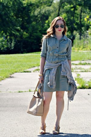 light jacket - army green dress