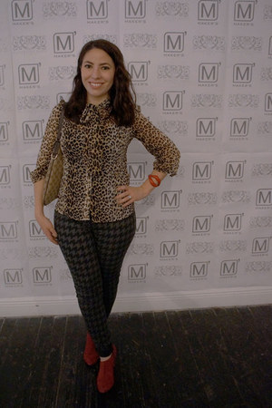 leopard print Forever 21 top - Sole Society boots - monogram Gucci bag