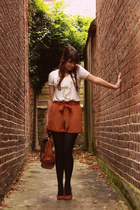 burnt orange poya See by Chloe bag - burnt orange bow Miss Selfridge shorts