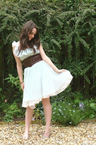 vintage dress - jocasi belt - Repetto shoes - vintage skirt - thischarminggirl n