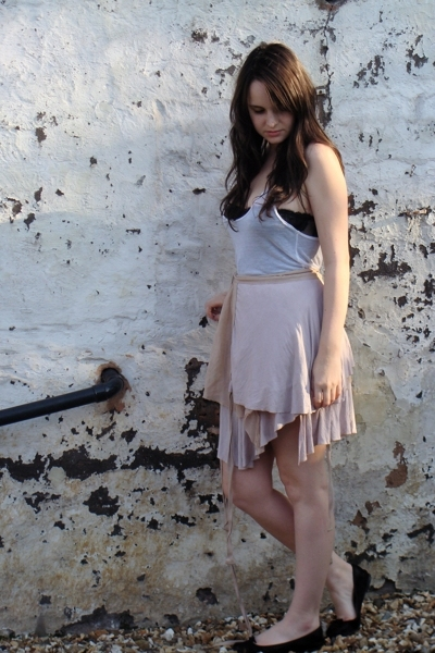 preen skirt - Urban Outfitters top - vintage top - Repetto shoes