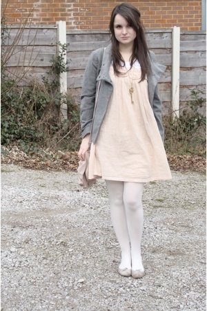 Ruche dress - H&amp;M jacket - Repetto shoes - PingPingProp necklace - Topshop purse