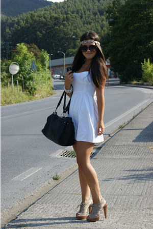 Mango heels - BLANCO dress - BLANCO bag - H&M accessories