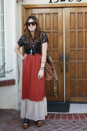 unknown dress - Jeffrey Campbell shoes - Aldo purse - forever 2121 top