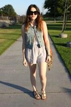 Nordstrom Rack shorts - Nordstrom Rack vest - Forever 21 sandals
