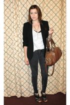 Zara blazer - Urban Outfitters jeans - Zara shoes - Target t-shirt - Steven by S