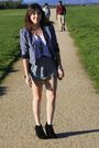 Foreign-exchange-shorts-urban-outfitters-jacket-forever-21-boots-h-m-shirt