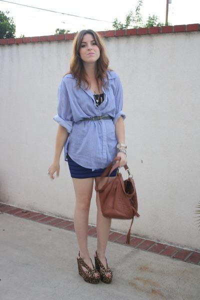 American Rag shirt - Urban Outfitters top - f21 skirt - Aldo purse - Jeffrey Cam