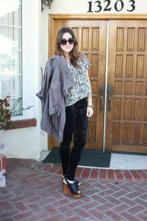 g- stage blouse - f21 leggings - Jeffrey Campbell shoes - f21 jacket