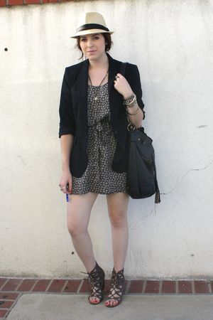H&amp;M&amp; dress - Zara blazer - Deena &amp; Ozzy via UO shoes - f21 purse