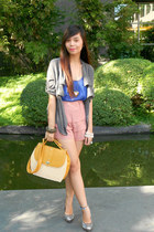 landmark shorts - Filgiarina shoes - Folded and Hung blazer - Bazaar bag