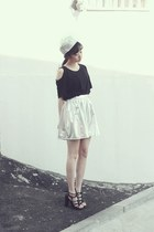silver ARTFIT hat - black ARTFIT top - silver ARTFIT skirt