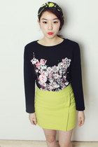 KADOCHE multi-color print long t-shirt