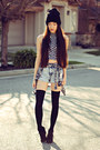 Plaid-pacsun-shirt-acid-wash-denim-forever-21-shorts-motel-rocks-top