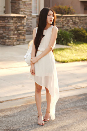 merrin & gussy necklace - chiffon OASAP dress - yeswalker bag