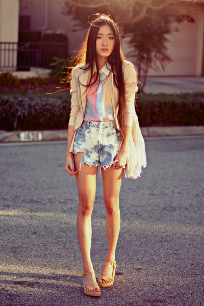 shopakira jacket - pastel fringe The Editors Market bag - Paradox shorts