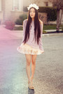 Light-purple-slouchy-crew-vs-pink-sweatshirt-off-white-petticoat-vintage-skirt