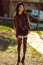 Black-denim-love-of-eos-shorts-diy-socks-sheer-ruffle-ralph-lauren-blouse