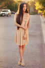 Nude-oasap-dress-cut-out-cuff-forever-21-bracelet