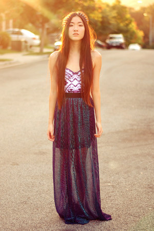 shimmery maxi Oh my Frock skirt - Motel Rocks bodysuit