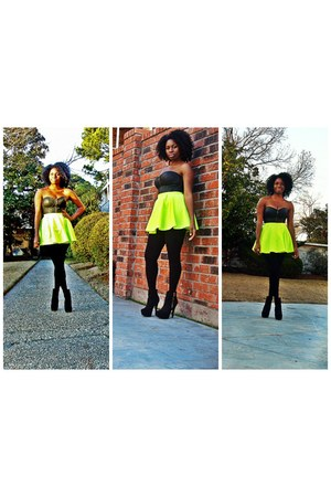 chartreuse Self Made skirt