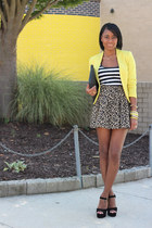 yellow H&M blazer - black Steve Madden sandals