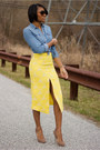 Yellow-asos-skirt