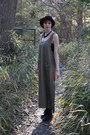 Black-combat-forever-21-boots-green-oversized-thrifted-dress-black-urban-out