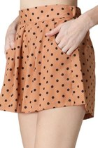 tan woven polka dot milky way shorts