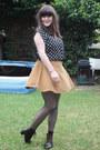 Vintage-boots-american-apparel-skirt-topshop-top