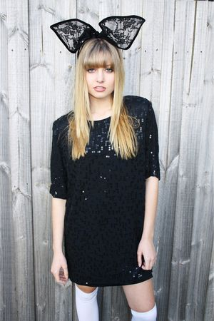 black Ebay accessories - black Studded rose vintage dress