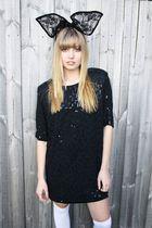 black Ebay accessories - black Studded rose vintage dress