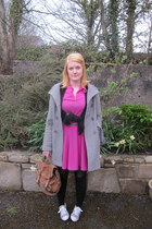 Thrift Store dress - Camden Market coat - Primark bag - tesco socks