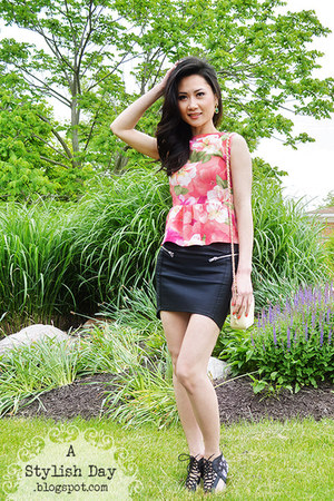 DIY top - Target shoes - H&M skirt