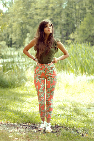 light orange patterned Motel Rocks pants