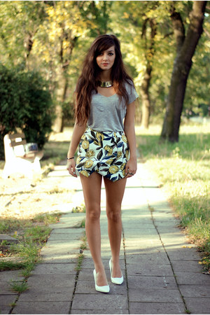 yellow floral print Choies skirt