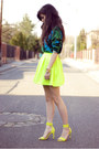 Yellow-neon-h-m-sandals-green-tropical-versace-jumper