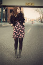Black-forever-21-coat-black-target-tights-bubble-gum-gifted-dress-black-tj