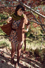 Black-vintage-dress-green-target-scarf-brown-forever-21-coat-brown-modclot