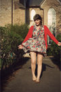 Red-the-limited-cardigan-gray-cosette-dress-brown-ecote-via-urban-outfitters
